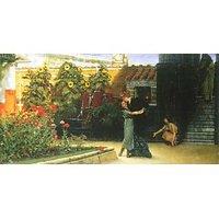 A Warm Welcome By Alma-Tadema - Canvas Art Print
