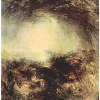 Shade And Darkness - The Evening Of The Deluge By Joseph Mallord Turner - Canvas Art Print