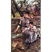 In The Garden By Giovanni Boldini - Canvas Art Print