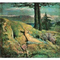 The Source By Giovanni Segantini - Canvas Art Print