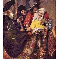 Kupplerin By Vermeer - Museum Canvas Print