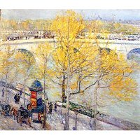 Pont Royal, Paris By Hassam - Canvas Art Print