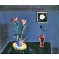 Still Life With Clock And Tulip Pot By Walter Gramatte - Museum Canvas Print