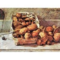 Mushrooms By Giovanni Segantini - Canvas Art Print