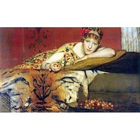 A Craving For Cherries By Alma-Tadema - Canvas Art Print