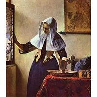 Young Woman With A Water Jug At The Window By Vermeer - Museum Canvas Print