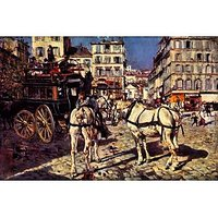 Buses On The Pigalle Place In Paris By Giovanni Boldini - Fine Art Print