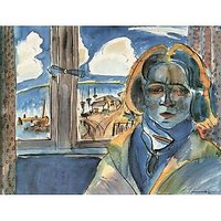 Girl At The Window (Sonia) By Walter Gramatte - Fine Art Print