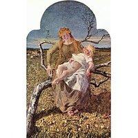 Fruit Of Love By Giovanni Segantini - Canvas Art Print