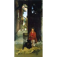 The Path To The Temple  By Alma-Tadema - Museum Canvas Print