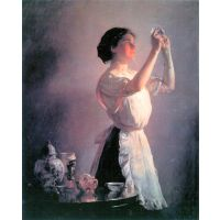 The Blue Cup By Joseph Decamp - Museum Canvas Print