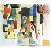 Children At The Vegetable Shop (I) By August Macke - Canvas Art Print