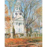 The Church Of Old Lyme, Connecticut [1] By Hassam - Canvas Art Print