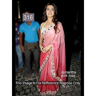 Pink Rose Georgette Bollywood Designer Saree