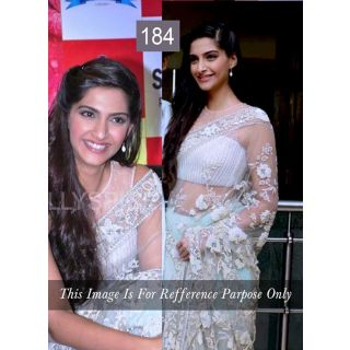 Soonam White Net Bollywood Fancy Saree