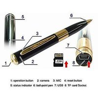 Spy Pen With Audio & Hidden Camera Video Recording With Memory Card Slot