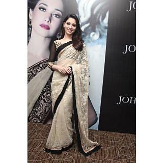 Indian Designer Bollywood Replica Actress  Tammana In Off White Saree