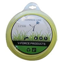 NYLON GRASS TRIMMER LINE/WIRE FOR BRUSH CUTTER TRIMMER-3MM/50MTR-YELLOW-ROUND