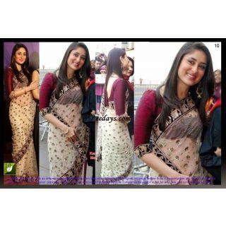 Kareena Kapoor Net Bright Bollywood Saree