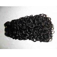 LeModish Natural Curly Remy Hair 18 Inches Natural Black