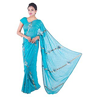 Ethinic Handblock Up-To-Date Cotton Saree With Blouse