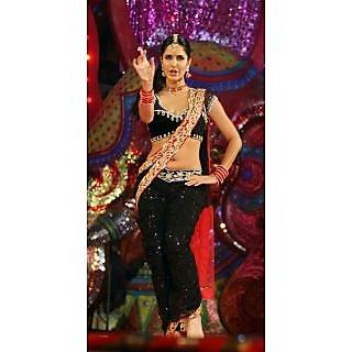Indian Designer Bollywood Replica Ethnic Katrina Kaif Black Saree Sari