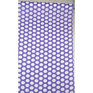Cotton AllOver Full Suit 4 Meters Purple Suit White Dots