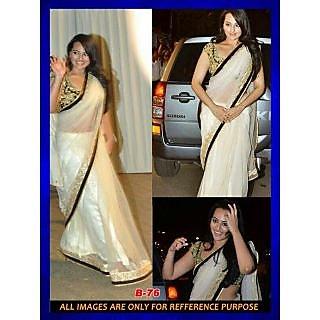 Bollywood Sarees: Sonakshi Sinha Butterfly Bollywood Replica Saree
