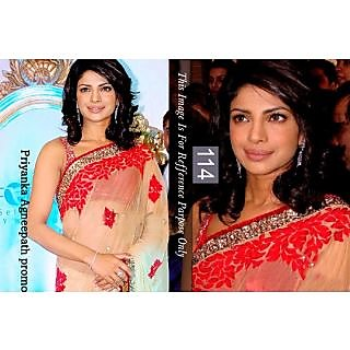 FabPandora Designer Bollywood Collection Net Saree With Blouse Piece