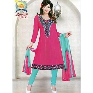 Pankudi Cotton Anarkali Unstitched Suit With Dupatta (D.N.12)