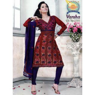 Varsha Cotton Designer Unstitched Suit With Dupatta (D.N.2302)