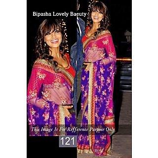 FabPandora Designer Bollywood Collection Net Saree With Blouse Piece & Inner - 74909444