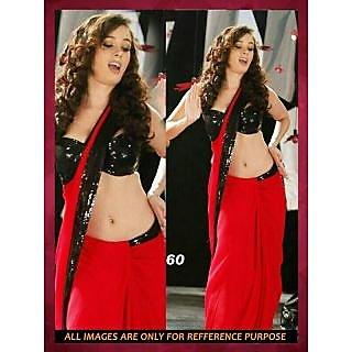 Bollywood Saree BOLLYWOOD REPLICA RED EVELYN SHARMA HOT SAREE