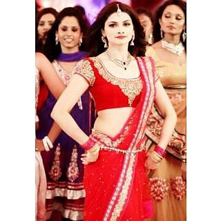 Bollywood Replica - Prachi Desai Style Red Net Saree 1345