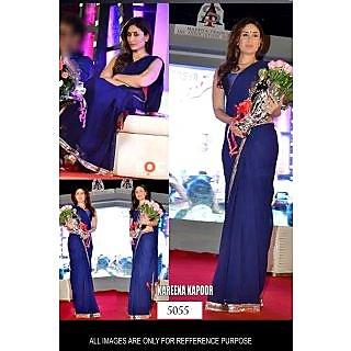 Bollywood Replica Saree Of Kareena Kapoor In Blue Color