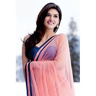 Kriti Sanon Bollywood Actress Heropanti Movie Saree Pink Color Hot Selling Saree