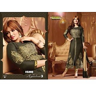 Desingar Cotton Embroidery Top With Cotton Bottom And Chiffon Dupatta-2804