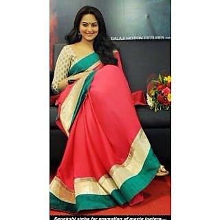 Bollywood Replica Sarees- Sonakshi Lootera Pink Saree