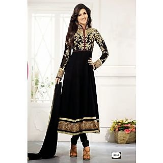 Fastcolors Women's Black Salwar Suit And Dupatta