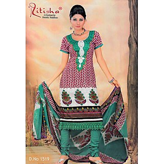 Ritisha Party Wear Unstitched Suit With Dupatta (D.N.1519)