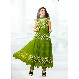 RChoice Fashion 1004 - Green Unstitched Suit With Dupatta