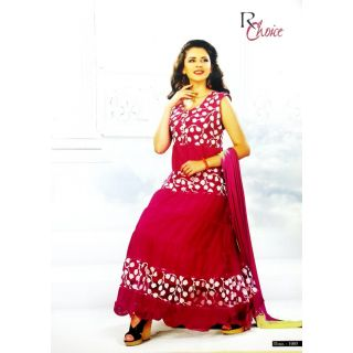 RChoice Fashion 1005 - Pink Unstitched Suit With Dupatta