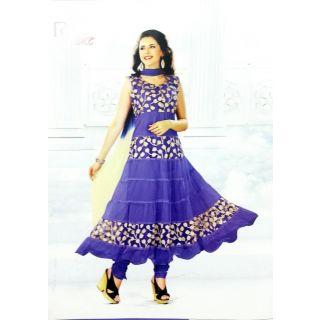 RChoice Fashion 1008 - Purple Unstitched Suit With Dupatta