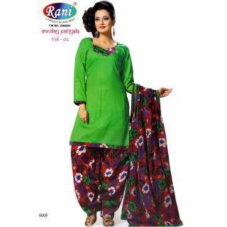 Sunday Patiyala Cotton Unstitched Suit With Dupatta (5005)