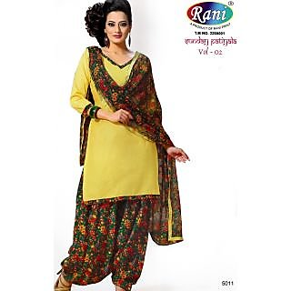 Sunday Patiyala Cotton Unstitched Suit With Dupatta (5011)