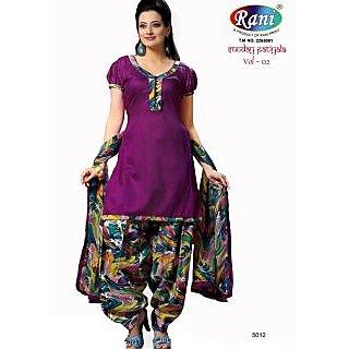 Sunday Patiyala Cotton Unstitched Suit With Dupatta (5012)