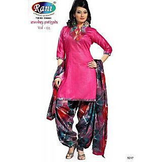 Sunday Patiyala Cotton Unstitched Suit With Dupatta (5017)