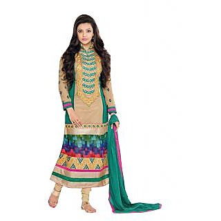 Innovative Multi Semi Georgette Straight Cut Salwar Suit