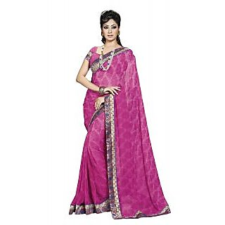 Colors Fashion Pink Chiffon Latest Designer Fancy Printed Saree - 74922736