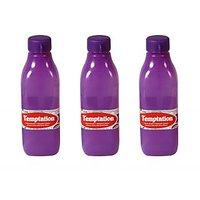 Temptation Square Fridge Bottles Set Of 3 Violet